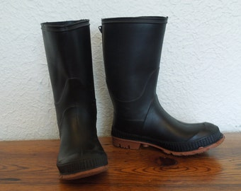 Vintage Children's Rubber Boots Rain Garden Snow Size 1 Made in Canada