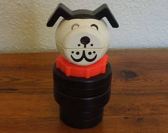 Vintage Fisher Price Little People Dog Stacking Baby/Toddler Toy