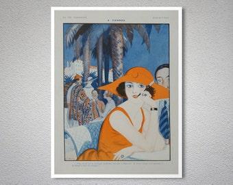 La Vie Parisienne Magazine, Cannes, 1922 Vintage Poster - Poster Paper, Sticker or Canvas Print