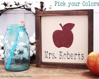 Personalized Teacher's Desk Name Sign-Teacher's Gift-Teacher's Name Gift-Design your own Personalized Teacher's gift-wall/deskdecor8.75x8.75