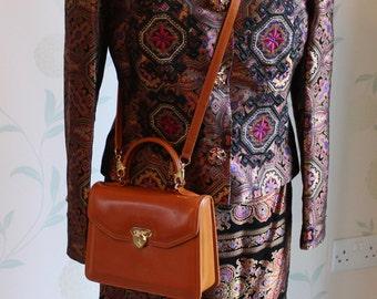 CHRISTIAN LACROIX Vintage Embroidered Skirt Suit UK 10/12 Stunning Designer Clothing Valentines Day