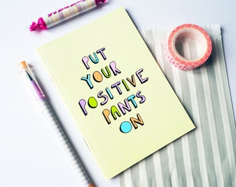 Cute Motivational Notebook Positive Pants Stationery Illustrated Gifts Cute Notebook Cute Organiser School Office Supplies Back To School