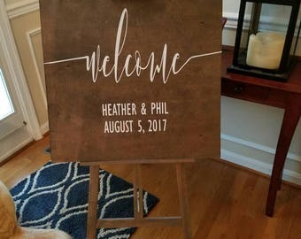 Wooden 32x24 custom hand painted wedding sign SALE!