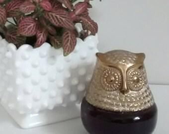 Owl Avon Cologne Bottle