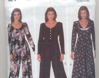 Butterick 6441 Ladies Jumpsuit Vintage Sewing Pattern