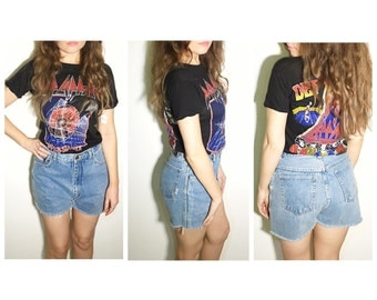 Vintage blue wrangler jean shorts cut off shorts  jean cut offs high waist shorts