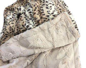 Luxury Fur Blanket, Faux Fur Blanket, Adult Minky Blanket, Fur Throw, Luxury Home Decor,Puma Faux Fur, Luxury Home Decor Blanket