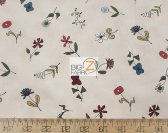 100% Cotton Fabric By Red Rooster Fabrics - Basket In Bloom Floral - Sold By The Yard (FH-3237) DIY Clothing Accessories Decor