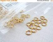 ON SALE TODAY Gold Jump Rings 4mm (100) Gold Plated Brass Findings Wholesale Jewelry Supplies Bulk Best Online Supply Site CrazyCoolStuff