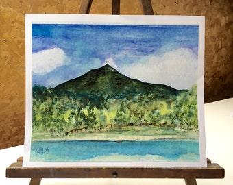 Mt. Tamalpais Marin Cointy California  12 x 10  Watercolor print
