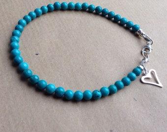 Turquoise Bracelet, Gemstone Bracelet, Turquoise Gemstone Bracelet