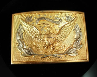 Eagle BUCKLE Patriotic vintage buckle gold mens buckle Political buckle mens stocking stuffer biker gift military gift