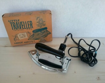 Vintage Travel Iron w/ Original Box
