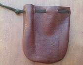 Two Drawstring Bags Brown/Black