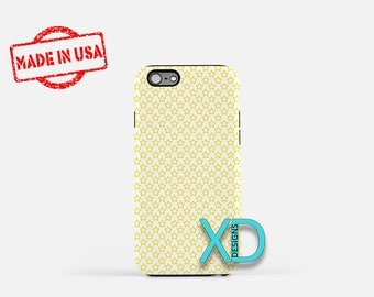 Yellow Star Phone Case, Yellow Star iPhone Case, Stencil iPhone 7 Case, White, Stencil iPhone 6 Case, Yellow Star Tough Case, Clear Case