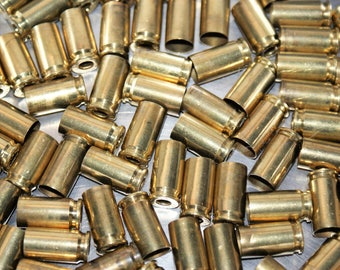 100ct 9mm Luger Spent Decapped Brass Bullet Shells Casings w/ Patina Empty Inert Altered Art Reloading Craft Supplies Jewelry Steampunk