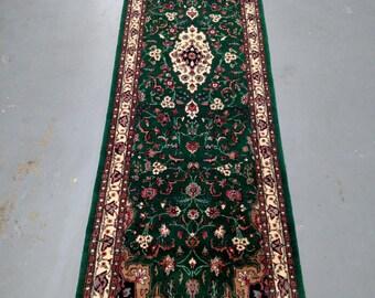 1980s Hand-Knotted, Vintage Pakistani Tabriz Rug Runner