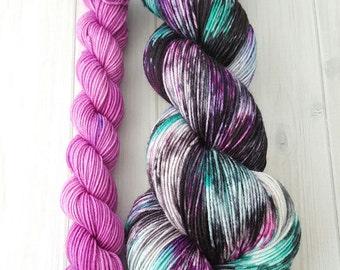 "Hand dyed ""Alana"" superwash merino sock yarn set"