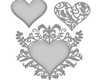 Spellbinders - Shapeabilities - Botanical Heart Pair Die
