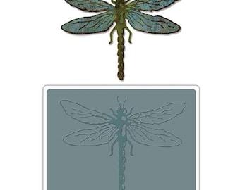 Sizzix - Tim Holtz Alterations - Bigz Die w/Texture Fades - Layered Dragonfly