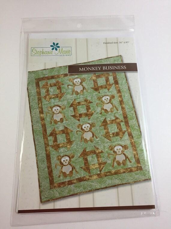 Monkey Business Pattern - Stephanie Marie Designs - Baby Quilt ... : monkey business quilt pattern - Adamdwight.com