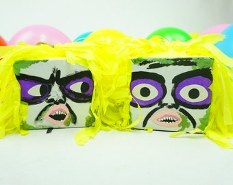 Pre-filled Pinata Treat Box Inspired By Beetlejuice I Classic Film Party | Surprise Pinatas Set of 3 | Loot Bags | Tabletops | Party Favors