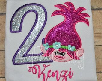Personalized Poppy Troll Birthday Shirt