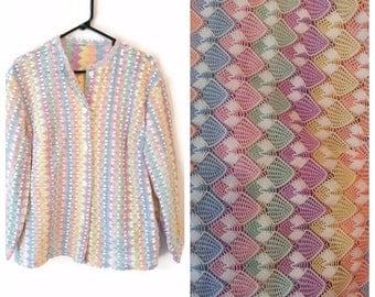 Vintage Womens button down shirt jacket size 3X Plus multi colored