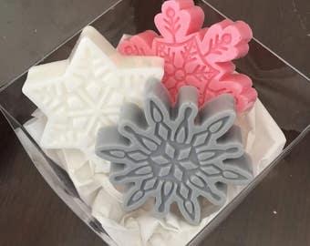 SNOWFLAKE Soaps (set of 3) Favors