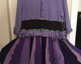Upcycled Katwise Inspired Wool Sweater Coat Fairy Pixie Dream Coat