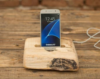 Samsung Galaxy stand, iPhone wooden stand, Docking station, iPhone 7 dock, Gift for him, Wooden stand for iPhone, iPhone 6 Plus holder