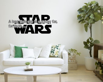 Starwars - A Long Time A Go Quote - Wall Art Sticker