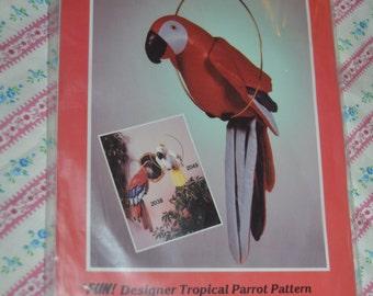 L.A. Designs 2038 Designer Tropical Parrot Sewing Pattern  - UNCUT