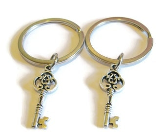 2 Key Keychains Best Friends Sisters Couples