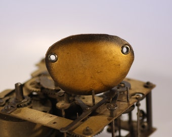 steampunk leather eye patch , gold