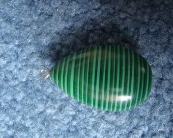 Green Malachite Tear Drop Pendant