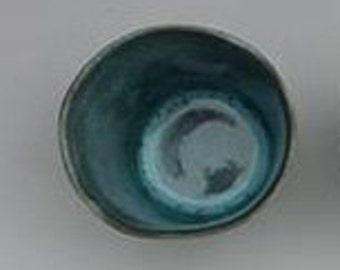 Shot Glass, Charcoal & Rainforest Green shot glass, porcelain cup, sake cup