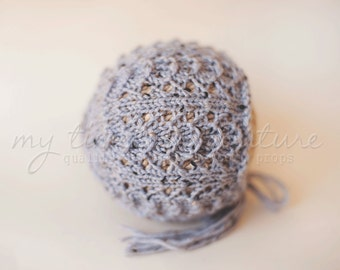Newborn {Fan Shell} Knit Bonnet - Newborn Photography Prop - Other Color Options