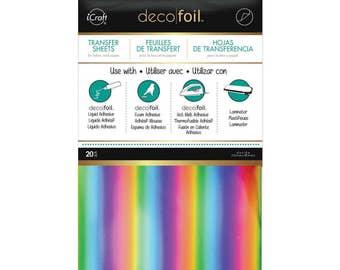 Deco Foil Transfer Sheets - Rainbow Foiling