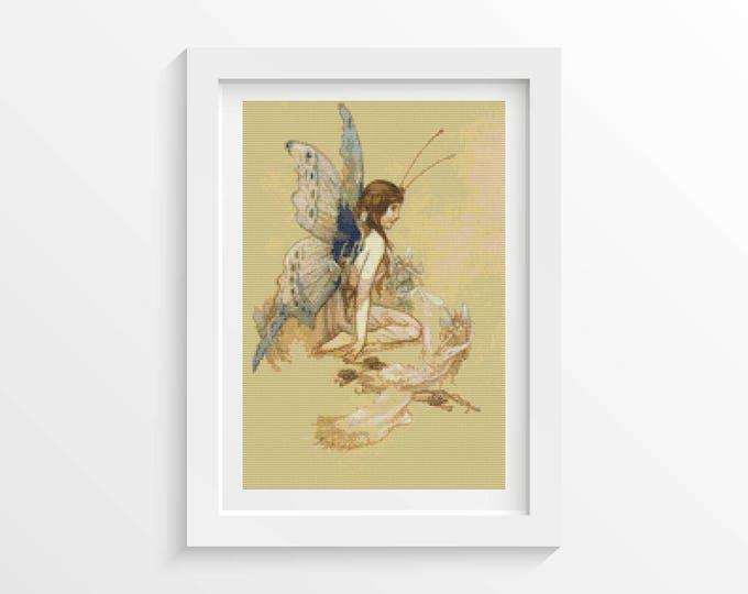 Cross Stitch Pattern PDF, Embroidery Chart, Art Cross Stitch, Woman Cross Stitch, The Water Babies by Warwick Goble (GOBLE01)