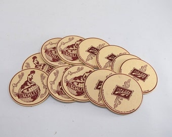 Schlitz Beer Coasters, Coaster, Vintage Beer, Man Cave