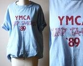 1980s YMCA soft tee // 1980s soft t-shirt // vintage t-shirt