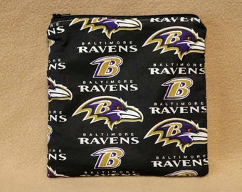 One Sandwich Bag, Reusable Lunch Bags, Waste-Free Lunch, Machine Washable, Baltimore Ravens, NFL, Sandwich Sacks, item #SS87