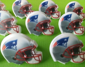 24 New ENGLAND PATRIOTS NFL helmet cupcake rings pick cake toppers football fan birthday tailgate party fall sports super bowl team bachelor