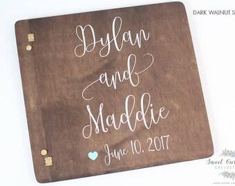 Rustic Wood Wedding Album | Photo Album | Rustic Wood Wedding Photo Album | Guestbook Alternate | Wedding Guestbook | Guestbook - IG-13
