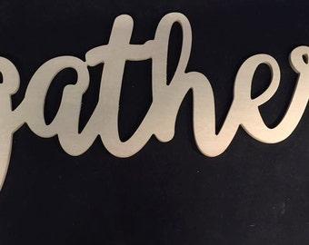 Gather (ballerina font)