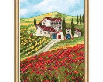 Cross Stitch Kit - Poppy Fields