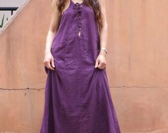 Sensual Me Dress  ..Maxi Dress... Full Length Dress ... Color Purple