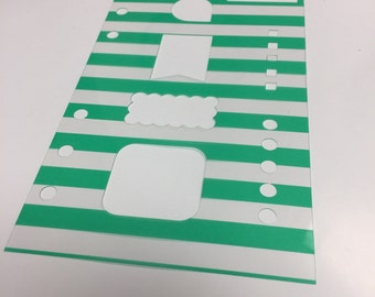 Personal Basic Stencil - Teal Stripe