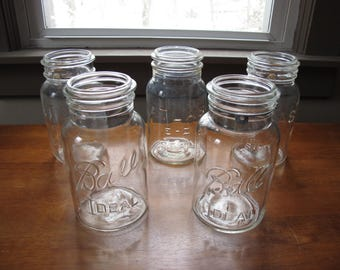 Bail Style Ball and Atlas EZ Seal Canning Jars - Decorative Jars - No Lids